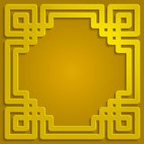 Ejemplo islámico del fondo del modelo del ornamento de la sombra del oro Foto de archivo