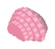 Ejemplo isométrico del cerebro Órgano central del sistema nervioso Imágenes de archivo libres de regalías