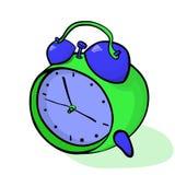 Ejemplo isométrico del vector del despertador de la historieta stock de ilustración