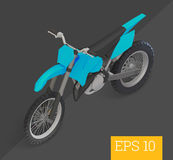 Ejemplo isométrico del vector del motocrós Imágenes de archivo libres de regalías