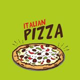 Ejemplo italiano del vector de la pizza libre illustration