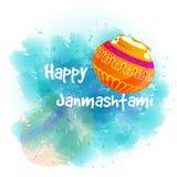 Ejemplo Janmashtami feliz Fotografía de archivo libre de regalías