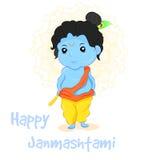 Ejemplo Janmashtami feliz Fotografía de archivo