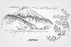Ejemplo japonés ilustración del vector