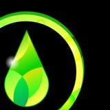 Ejemplo líquido del símbolo del amarillo del vector del descenso del aceite Fotos de archivo