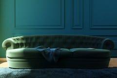 Ejemplo la sala de estar con un sofá Imagen de archivo libre de regalías