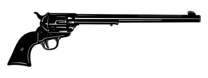 Ejemplo largo blanco y negro del vector de la pistola del barril Imagen de archivo
