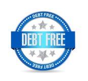 ejemplo libre del concepto de la muestra del sello de la deuda Foto de archivo libre de regalías