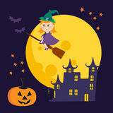 Ejemplo lindo de Halloween del vector stock de ilustración