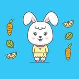 Ejemplo lindo de la historieta del conejo stock de ilustración