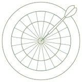 Ejemplo lindo del vector de la blanco y de la flecha para los dardos Spor stock de ilustración