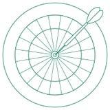 Ejemplo lindo del vector de la blanco y de la flecha para los dardos Spor libre illustration