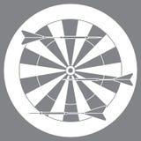 Ejemplo lindo del vector de la blanco y de las flechas para los dardos Spo ilustración del vector