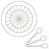 Ejemplo lindo del vector de la blanco y de las flechas para los dardos Spo libre illustration
