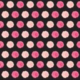 Ejemplo lindo del vector de Rose Flower Seamless Pattern Background Foto de archivo libre de regalías
