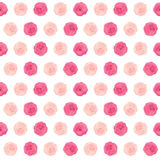 Ejemplo lindo del vector de Rose Flower Seamless Pattern Background Foto de archivo libre de regalías