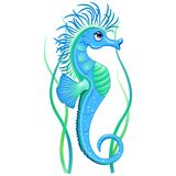 Ejemplo lindo del vector del personaje de dibujos animados del Seahorse stock de ilustración