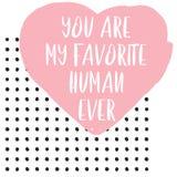 Ejemplo lindo feliz del día de tarjeta del día de San Valentín ilustración del vector
