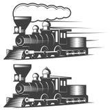 Ejemplo locomotor del vector en estilo monocromático del vintage Foto de archivo