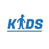 Ejemplo Logo Symbol Typography de los niños Fotos de archivo
