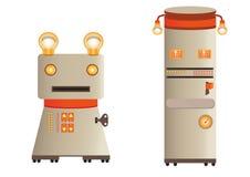Ejemplo - los robots retros figuran (los caracteres) Fotografía de archivo