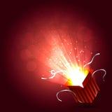 Ejemplo mágico de la caja ilustración del vector