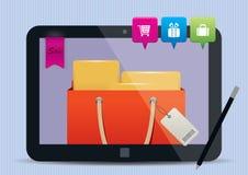 Ejemplo móvil del concepto de las compras ilustración del vector