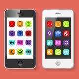 Ejemplo móvil del vector de los smartphones Imagen de archivo libre de regalías