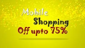 Ejemplo móvil promocional especial del gráfico del contexto de la venta de las compras ilustración del vector