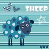 Ejemplo manchado del vector del cordero de las ovejas stock de ilustración