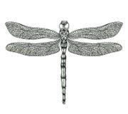 Ejemplo a mano de la libélula libre illustration