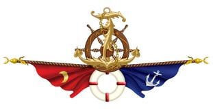 Ejemplo marítimo del icono Imagenes de archivo