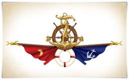 Ejemplo marítimo del icono Imagen de archivo