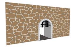 ejemplo medieval del vector de la puerta ilustración del vector