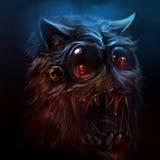 Ejemplo melenudo del monstruo Foto de archivo libre de regalías