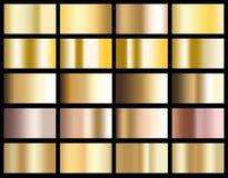 Ejemplo metálico de la textura del icono del fondo de la pendiente del oro para ilustración del vector