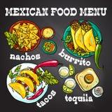 Ejemplo mexicano de la comida Imagen de archivo libre de regalías
