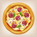 Ejemplo mexicano del vector de la pizza Imagenes de archivo