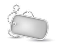 Ejemplo militar de las placas de identificación Foto de archivo libre de regalías