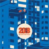 Ejemplo minimalistic del vector del Año Nuevo 2018