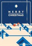 Ejemplo minimalistic del vector de la Feliz Navidad libre illustration