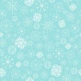 Ejemplo, modelo del vector imagen de copos de nieve, invierno fondo azul claro para las tarjetas de Navidad, empaquetando libre illustration