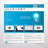 Ejemplo moderno del vector de la plantilla EPS 10 del sitio web Imagenes de archivo