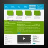 Ejemplo moderno del vector de la plantilla EPS 10 del sitio web Foto de archivo libre de regalías