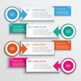 Ejemplo moderno del vector del diseño de Infographic de cuatro pasos Fotografía de archivo