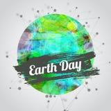 Ejemplo moderno del vector para el Día de la Tierra con Imágenes de archivo libres de regalías