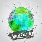 Ejemplo moderno del vector para el Día de la Tierra con Imagenes de archivo