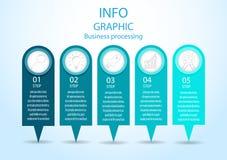 Ejemplo moderno del vector del proceso de negocio del infographics ilustración del vector