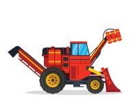 Ejemplo moderno del vehículo de la granja de Cane And Sugar Harvesting Agriculture Ilustración del Vector