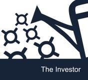 Ejemplo monótono del vector simple en un fondo blanco en tema de la inversión libre illustration